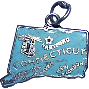 Sterling Enamel charm Connecticut