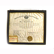 1918 Pharmacist License DIPLOMA Certificate NEW YORK STATE UNIVERSITY Regents  Pharmacy Medical