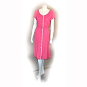 1950s Berkshire B-Tween Size 16 Casual LINEN Raspberry Career Belted Dress