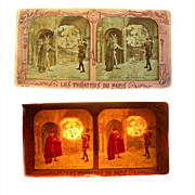 Stereo Card STEREOVIEW 'Dieu Pardonne' Early French 'tissue' rare Faust