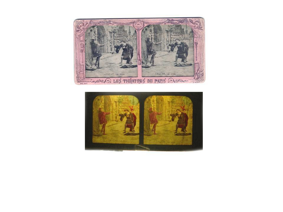 Paris Tissue Stereoview Stereo Card Early French RARE Faust