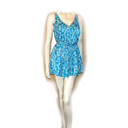 Maxine Of Hollywood Swim Dress Swimsuit SKORT Swimming Suit Size 16W Flirty!
