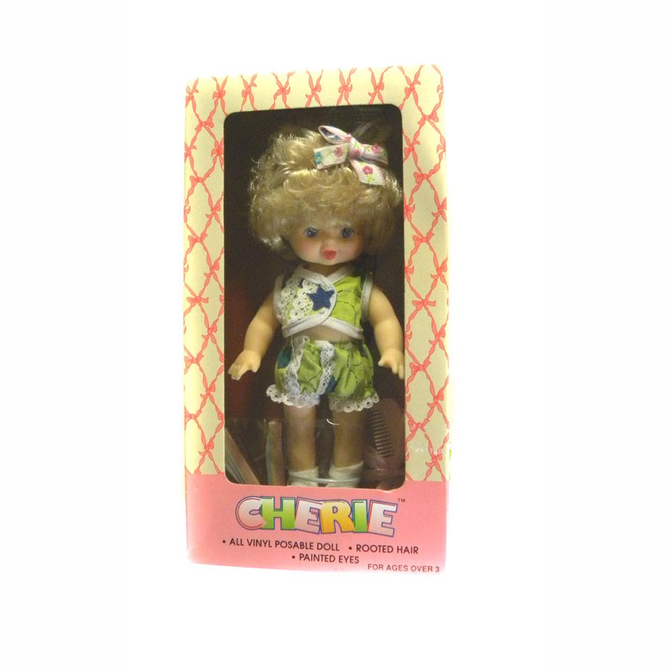 "Vinyl Doll New In Box 8"" CHERIE By Cititoy With Rooted Hair And Accessories"