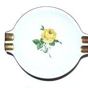 Kaiser CHARLOTTENBURG ashtray Yellow Roses Green Leaves