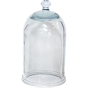 "13"" Glass Cloche Dome Bell Jar Heavy Vacuum Apothecary Display HAND Blown"
