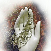 Gypsy Dangle Bracelet Silvertone Shabby Chic