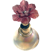 Perfume Bottle ATOMIZER Opalescent Flower TOP Number 26