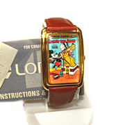 Mickey Mouse LORUS 'Steamboat Willie' WATCH RMF826 Rare Runs Perfect