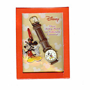 Mickey Mouse Watch And Keychain NEW OLD STOCK Licensed RUNS GREAT!