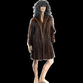 Ladies Ranch MINK Fur Coat Full Length Size 42 SAKS Fifth Ave 1950s