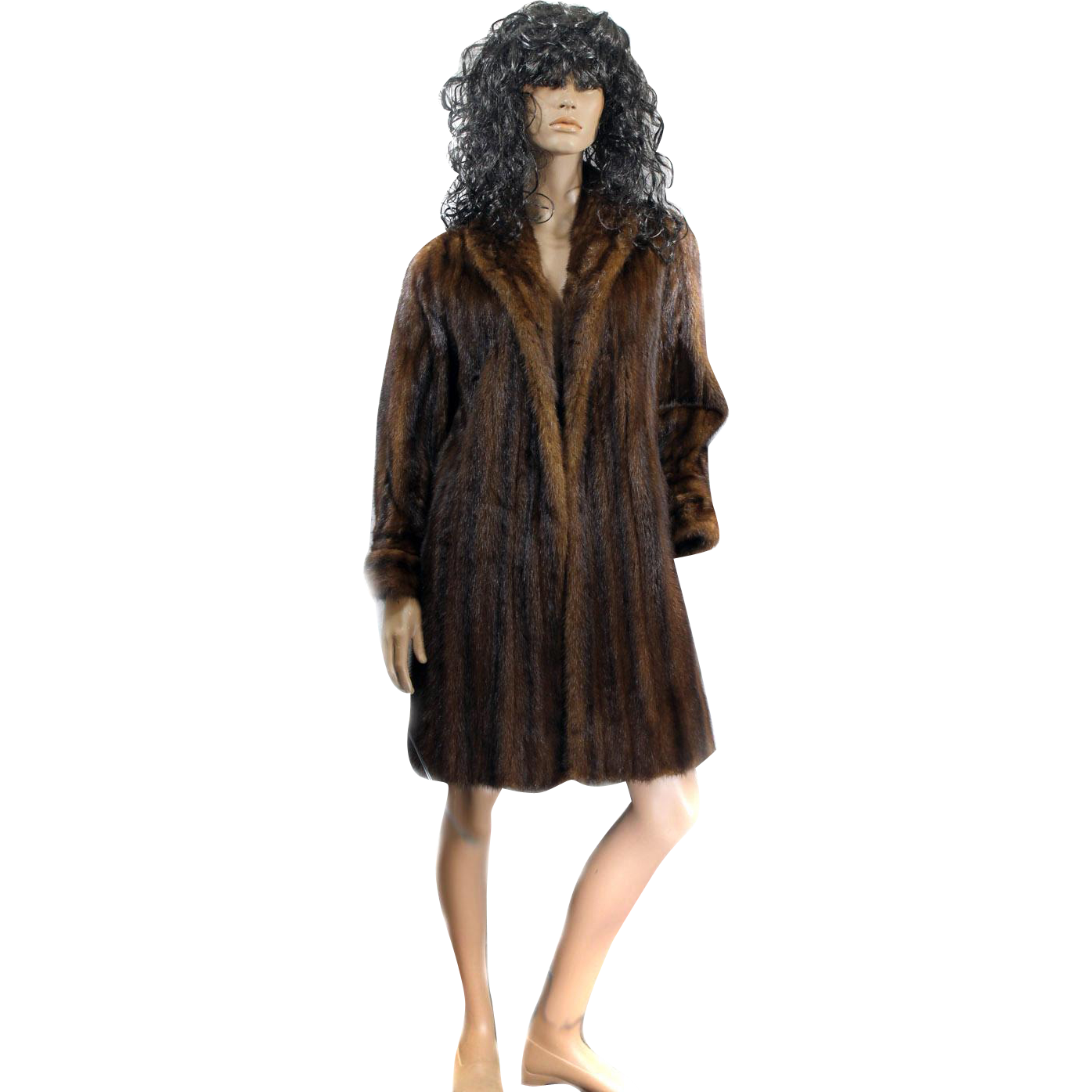 Ladies Ranch MINK Fur Coat Full Length Size 42 SAKS Fifth Ave 1950s