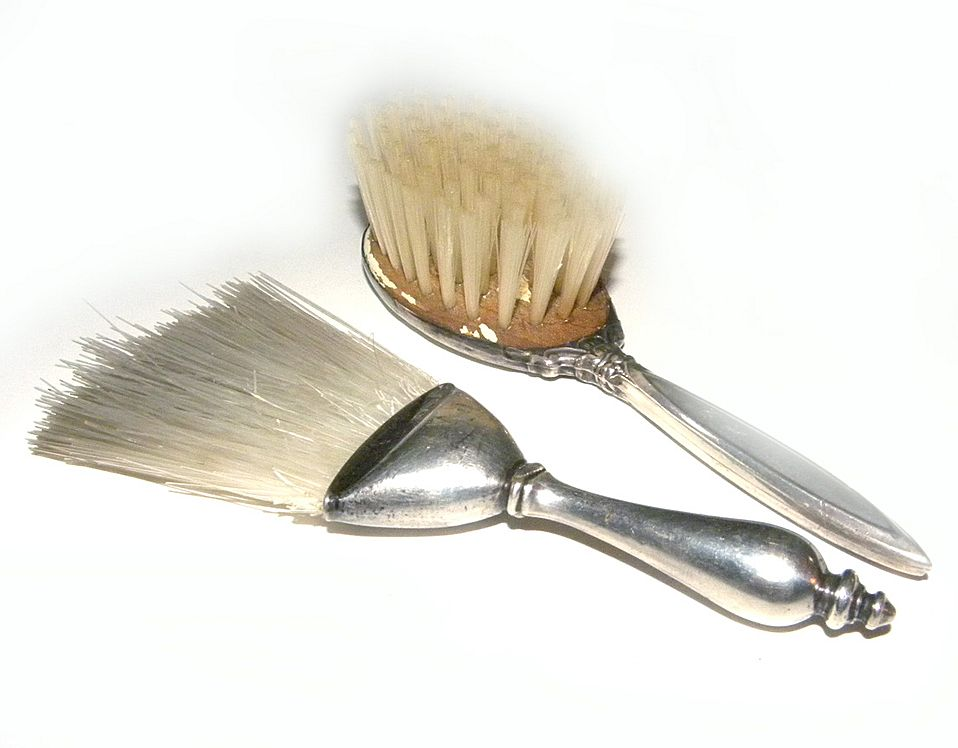 WEBSTER Sterling Silver Vanity BRUSHES BABY Hair Clothing