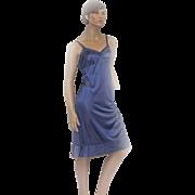 1960s Lorraine Full Slip Navy BLUE Antron Nylon Size 38 TALL NEW