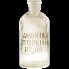 Wheaton NO-SOL-VIT 8 Apothecary Chemist Laboratory Bottle ETCHED