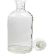 1960s Pyrex Apothecary Chemist DRUGGIST Laboratory Bottle Medical Original Stopper #24