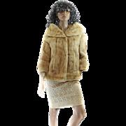 60S Dawn Mink LUXURIOUS Coat Stroller JACKET Size Large JACKIE O