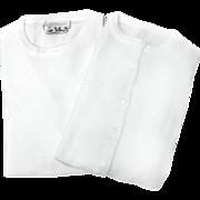 Ban-Lon TALBOTS Sweater SET White 1960s Ladies Size 38