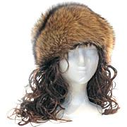 Fox Fur Hat Swirled Design Zhivago Styling