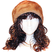 Vintage Honey Mink Hat Cap Fur