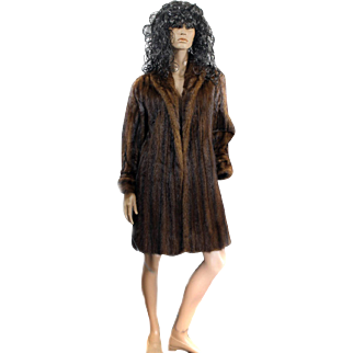 Ladies Ranch MINK Coat Full Length Size 42 SAKS Fifth Ave 1950s