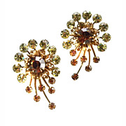 Spray CLIP ON Earrings Vintage SPARKLY !