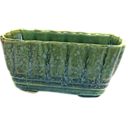 USA Brush Pottery Planter McCoy Blue Green Great Colors!