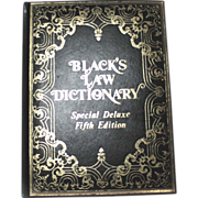 Black's Law Dictionary Special DELUXE FIFTH Edition 1979 Leather Bound