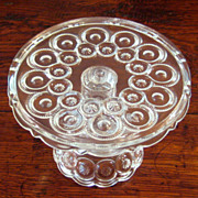 Early American Pattern Glass Small Pedestal Cake Stand