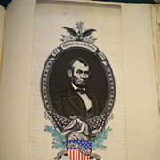 Abraham Lincoln Woven Silk Memorial Ribbon Switzerland 1866