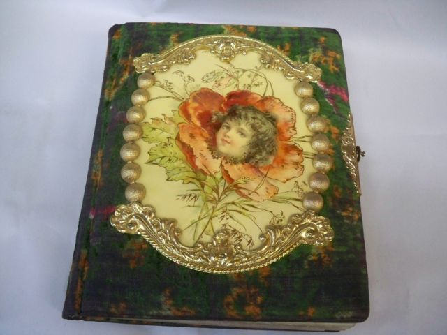 Victorian Photo Album Celluloid Little Girl Poppy