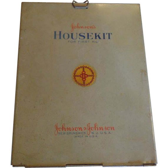 Johnson's Housekit First Aid Wall Hanger 1945