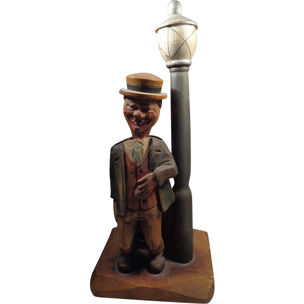 Anri Drunk Lamp Post Musical Cork Screw Bottle Opener