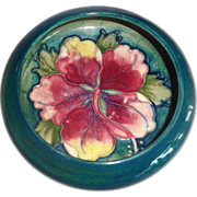 Moorcroft Hibiscus Green Blue Bowl