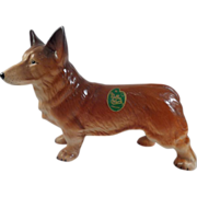Corgi Melba Ware England Figurine with Label