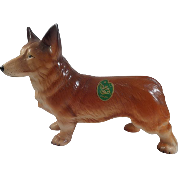 Corgi Melba Ware England Figurine with Label