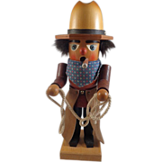 Holzkunst Christian Ulbricht Cowboy Smoker West Germany