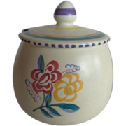 Poole Pottery Lidded Sugar Bowl Jam Pot