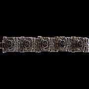 Gilles Vidal Modernist Pewter Bracelet Signed Canadian 1970s