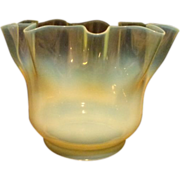 Victorian Vaseline Opalescent Oil Lamp Shade