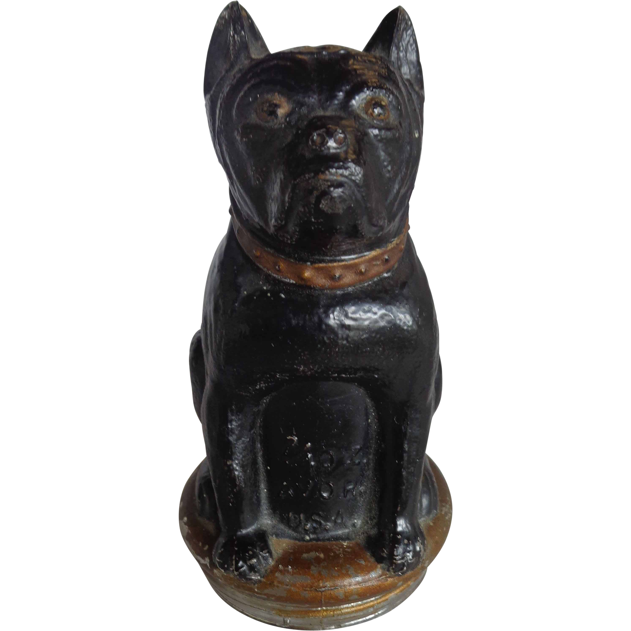 Victory Glass Dog Candy Container AVRO 1930s Original Paint Terrier