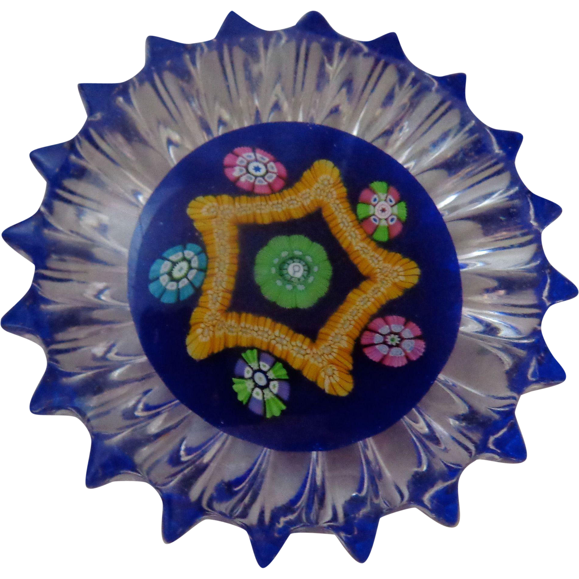 Perthshire Paperweight PP61 Millefiori Fluted Edge 1983-1985