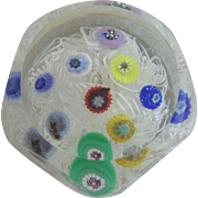 Strathearn Glass Paperweight PSF232 Lace Miniature  Millefiori Canes 1977 Original Box