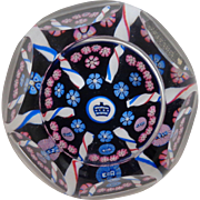 Whitefriars 1977 Paperweight Queen Silver Jubilee Millefiori Ribbon Twists