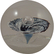 Selkirk Glass Paperweight Whirlpool 1981