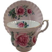 Royal Albert Cup & Saucer Pink Ground Roses