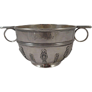 Sterling Christening Cup Porringer 2 Handles London 1901