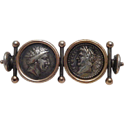 Etruscan Style Brooch Ancient Coins Gold Silver