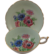 Paragon England Cup & Saucer Anemone Poppies Double Warrant