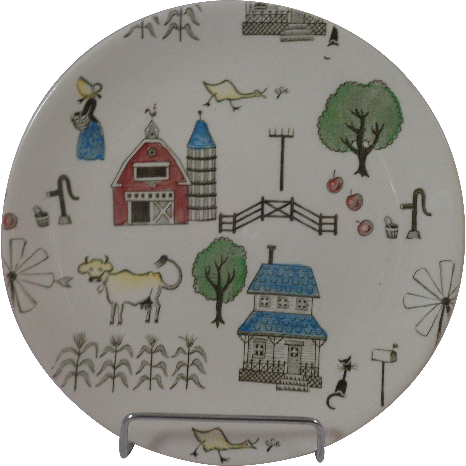 "Johnson Brothers McDonalds Farm 6 1/4"" Plate"