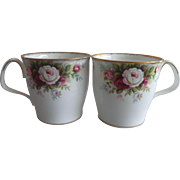 2 Royal Albert Celebration Coffee Mugs 1970
